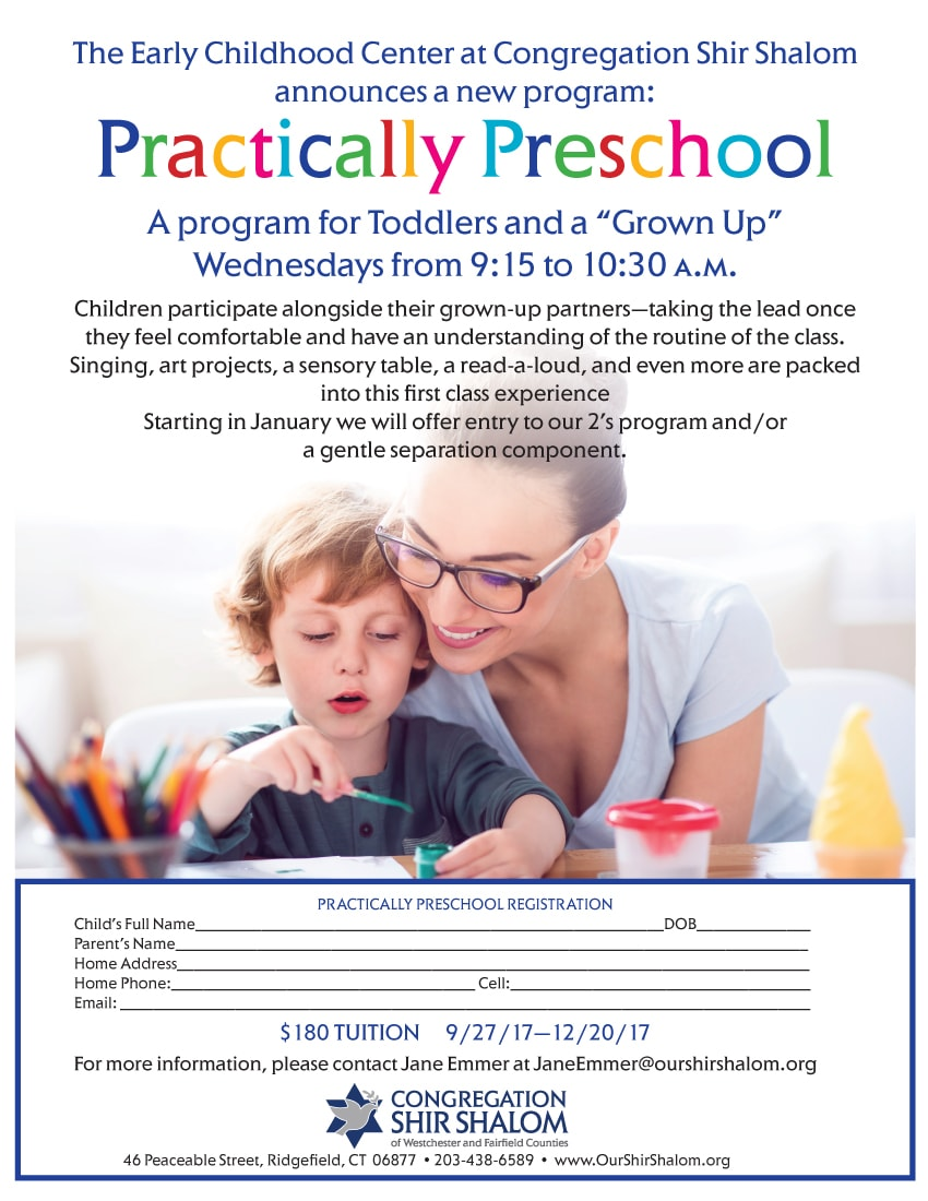 Practically Preschool ad flyer