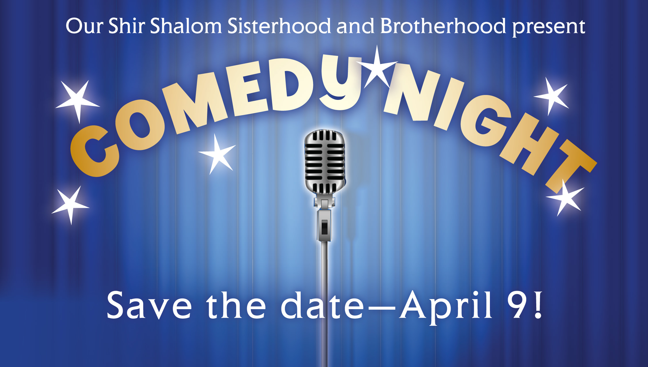 Save the date Comedy Night