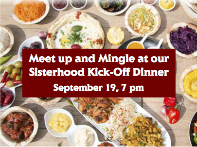 Meet up and Mingle at the Sisterhood Kick Off Dinner