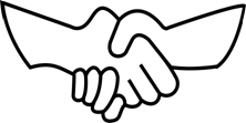 hand shake graphics bw