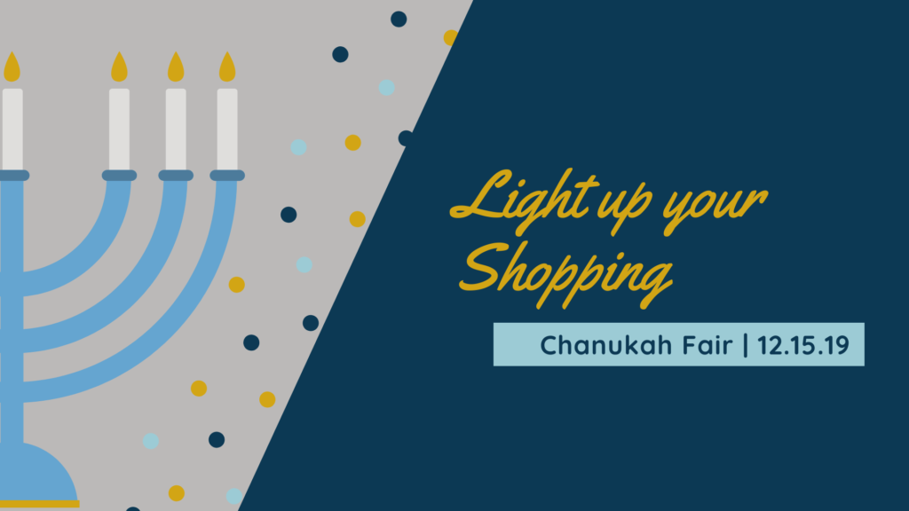 Light up your shopping with the Chanukah Fair at Shir Shalom