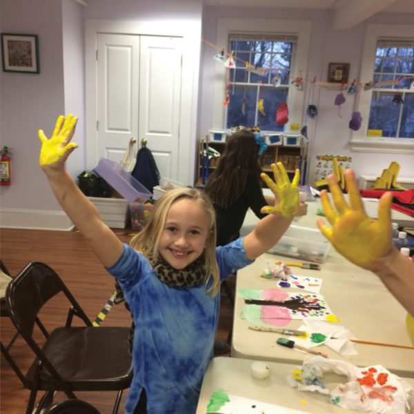 Child with yellow finger paints Case for Giving
