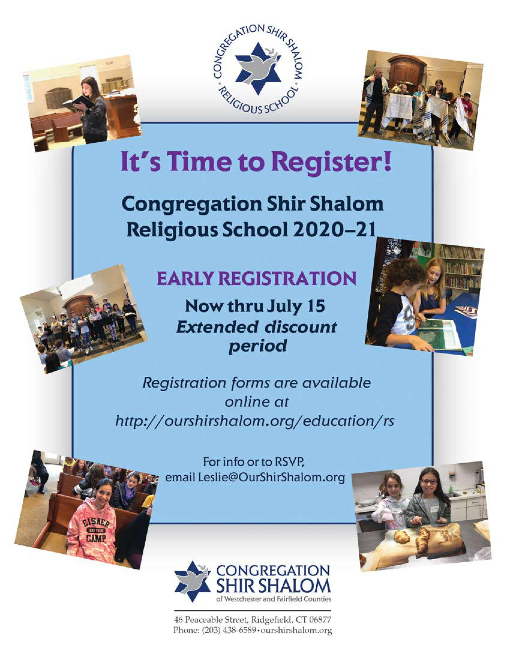 It's Time to Register - Early Registration - Now Through July 15 Click the image for the Registration Forms and Information